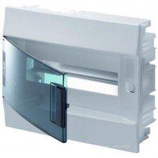 Шкаф IP41 Mistral встраиваемый с прозрачными дверцами 12M с винтовыми N/PE клемн. ABB