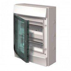 Шкаф IP65 Mistral прозрачные двери 24M с винтовым N/PE клемн. 22 подкл. ABB