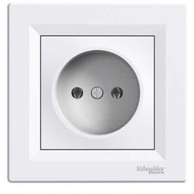Розетка без заземления Schneider Electric Asfora, белый - описание, характеристики, отзывы