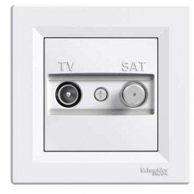 Розетка TV-SAT оконечная (1 дБ) Schneider Electric Asfora, белый - описание, характеристики, отзывы