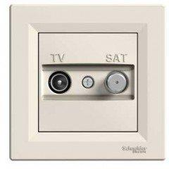 Розетка TV-SAT оконечная (1 дБ) Schneider Electric Asfora , кремовый