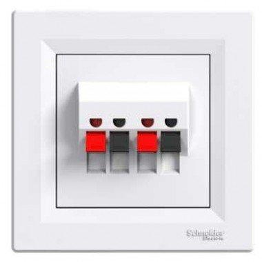 Аудиорозетка Schneider Electric Asfora, белый - описание, характеристики, отзывы