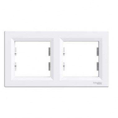 Рамка 2-постовая горизонтальная  Schneider Electric Asfora, белый - описание, характеристики, отзывы