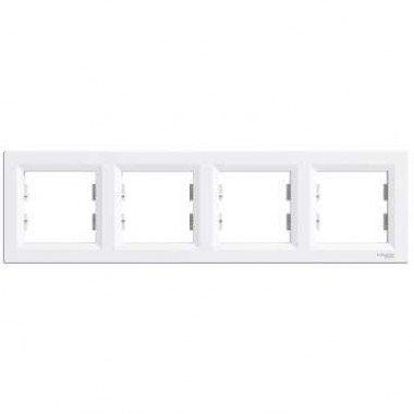 Рамка 4-постовая горизонтальная Schneider Electric Asfora , белый - описание, характеристики, отзывы