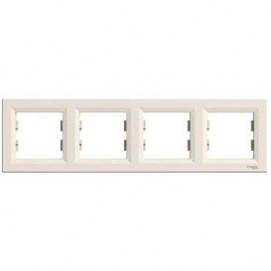 Рамка 4-постовая горизонтальная Schneider Electric Asfora, кремовый - описание, характеристики, отзывы