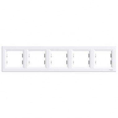 Рамка 5-постовая горизонтальная Schneider Electric Asfora, белый - описание, характеристики, отзывы