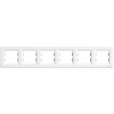 Рамка 6-постовая горизонтальная Schneider Electric Asfora , белый - описание, характеристики, отзывы