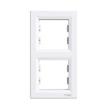 Рамка 2-постовая вертикальная Schneider Electric Asfora, белый - описание, характеристики, отзывы