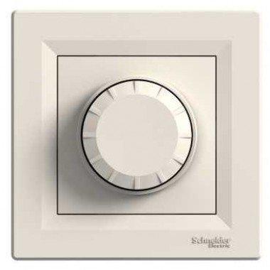 Светорегулятор поворотный с подсветкой Schneider Electric Asfora, кремовый - описание, характеристики, отзывы