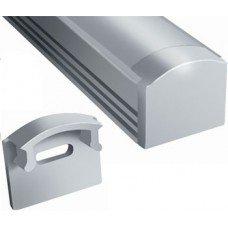 Заглушка для профиля алюминиевого LED ЛП7  7х16 (компл.2шт.)