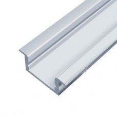 Профиль алюминиевый LED ЛПВ7 7х16 анодированный врезной (комплект профиль+рассеиватель матовый), 2м