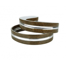 Декоративная лента DS-R260-07-BWS к светильнику DEL-R-20-18-4 DIY (орех + 1 серебряная полоска) Biom