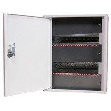 Шкаф металлический e.mbox.stand.n.24.z, под 24 модуля, навесная, с замком, e.next