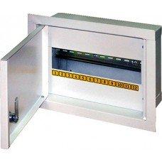 Шкаф металлический e.mbox.stand.w.12.z, под 12 модулей, встраиваемый, с замком, e.next