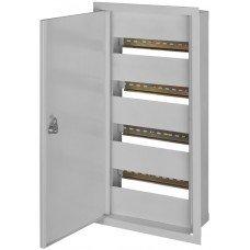 Шкаф металлический e.mbox.stand.w.48.z, под 48 модулей, встраиваемый, с замком, e.next