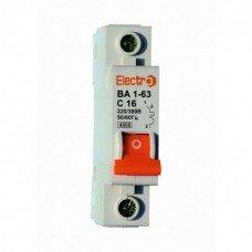 Автоматический выключатель ВА 1-63 4,5кА  1х 6А  (ElectrO TM)