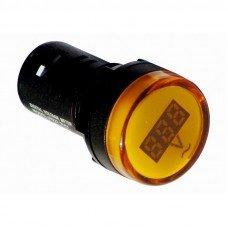 Индикатор вольтметр, 80В-500В, желтый (ElectrO TM)