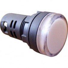 Индикатор AD22 (светодиод) 220В белый  (ElectrO TM)