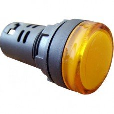 Индикатор AD22 (светодиод) 220В желтый  (ElectrO TM)
