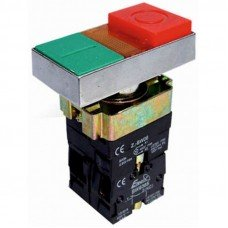 Кнопка с подсветкой  ВW8365 двойная (красная,  зеленая)  NO + NC  (ElectrO TM)