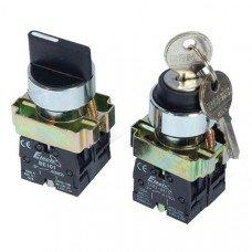 Кнопка  ВG33  3-х позиционный переключатель c ключем 29mm  NO + NC  (ElectrO TM)