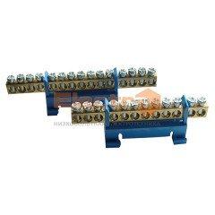 Шина соединительная монтажная на DIN-рейку ШНІ  7 отверстий (ElectrO TM)