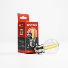 Лампа 1-EFP-149 G45 E27 6W 3000K clear glass  FILAMENT   ETRON