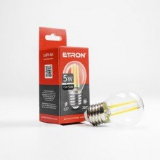Лампа 1-EFP-154 G45 E27 5W 4200K clear glass   FILAMENT  ETRON