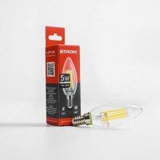 Лампа 1-EFP-128 С37 E14 5W 4200К clear glass  FILAMENT   ETRON