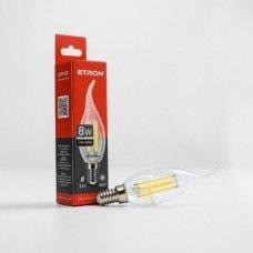 Лампа 1-EFP-130 С37 tailed E14 8W 4200K clear glass   FILAMENT  ETRON