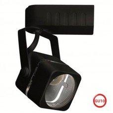 Светильник трековый RABAT, MR16, GU10, 220-240V, черный квадратный, 1/50 (HOROZ)