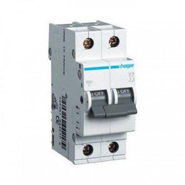 Автоматический выключатель Hager 2п, In=25 А, B, 6 kA - описание, характеристики, отзывы