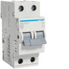 Автоматический выключатель Hager 2п, In=40А, B, 6 kA
