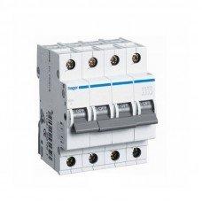 Автоматический выключатель Hager 4п, In=25 А, С, 6 kA
