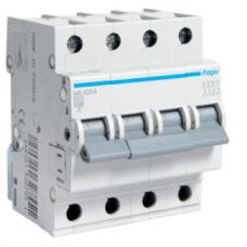 Автоматический выключатель Hager 4п, In=63 А, B, 6 kA