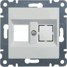 Панель двойная для RJ12/RJ45 Lumina, белая, Hager