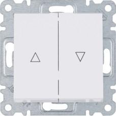 Выключатель для жалюзи `Контактор` Lumina, белый, 10АХ/230В, Hager