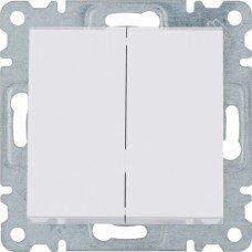 Выключатель 2-клавишный Lumina, белый, 10АХ/230В, Hager