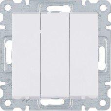 Выключатель 3-клавишный Lumina, белый, 10АХ/230В, Hager