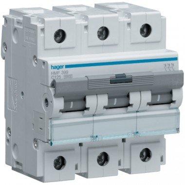 Автоматический выключатель HLF399S (3p,С,125А) Hager - описание, характеристики, отзывы