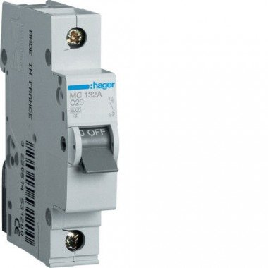 Автоматический выключатель MC116A (1p,C,16А) Hager - описание, характеристики, отзывы
