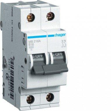 Автоматический выключатель MC263A (2р,С,63А) Hager - описание, характеристики, отзывы