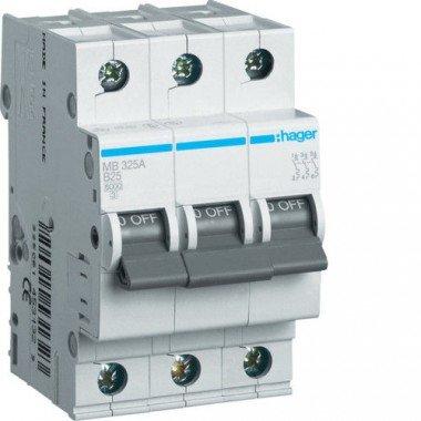 Автоматический выключатель MC302A (3p,С,2А) Hager - описание, характеристики, отзывы