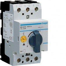 Автоматический выключатель для защиты двигателя, Iуставки=1,6-2,4 А, 2,5М Hager