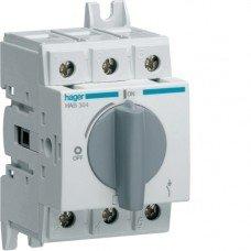 Выключатель нагрузки модульный до 16мм2, 3п 40А, Hager