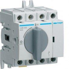 Выключатель нагрузки модульный до 16мм2, 4п 63А, Hager