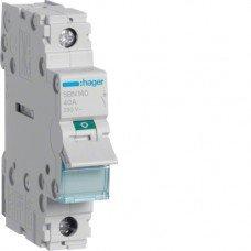 Выключатель нагрузки 1-полюсный 40А/230В, Hager