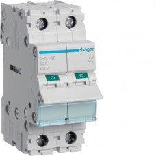 Выключатель нагрузки 2-полюсный 40А/400В, 2м Hager