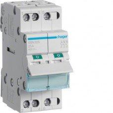 Выключатель нагрузки 3-полюсный 25А/400В Hager