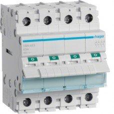 Выключатель нагрузки 4-полюсный 63А/400В, Hager
